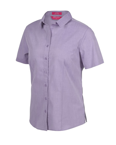 4FC1S LADIES CLASSIC S/S FINE CHAMBRAY SHIRT