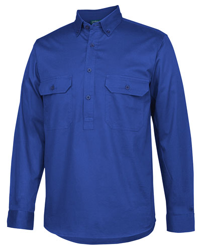 4LLC C OF C LONGREACH L/S CLOSEDFRONT SHIRT