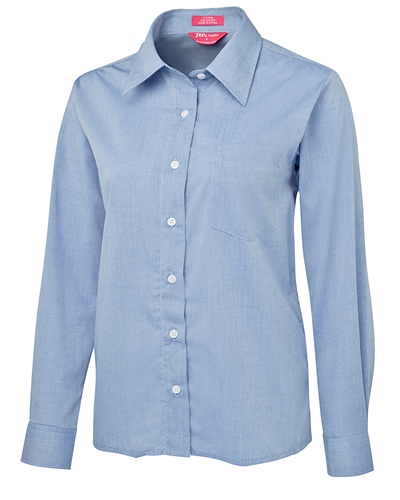 4LSL JB's LADIES L/S FINE CHAMBRAY SHIRT