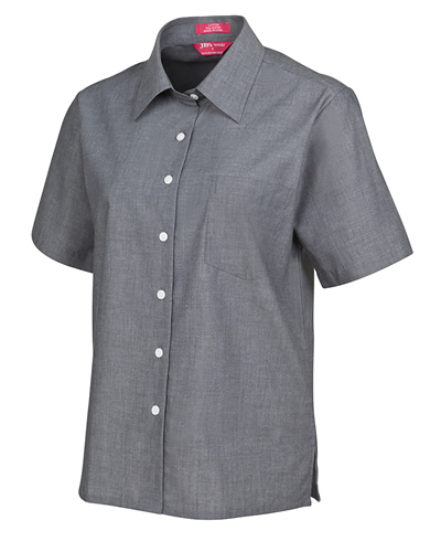 4LSLS JB's LADIES S/S FINE CHAMBRAY SHIRT