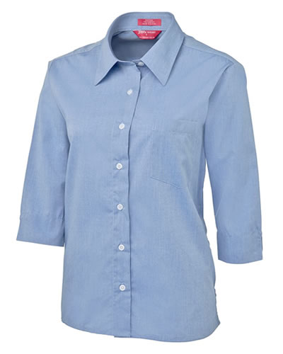 4LSLT JB's LADIES 3/4 FINE CHAMBRAY SHIRT